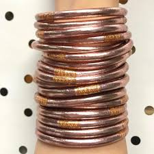 All Weather Rose Gold Bangles Serenity Prayer