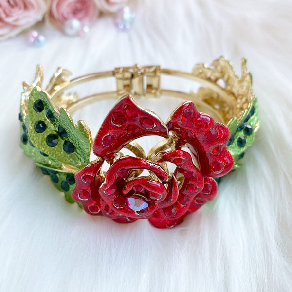 Beauty and the Beast bracelet, rose