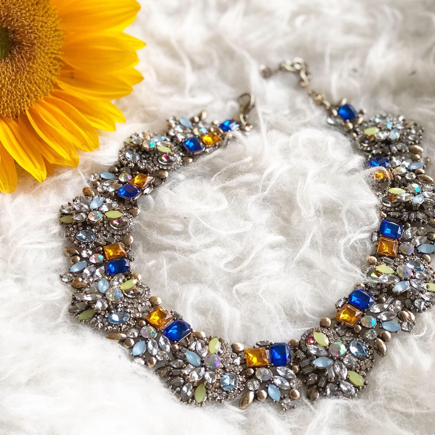 Antoinette Necklace: Blue