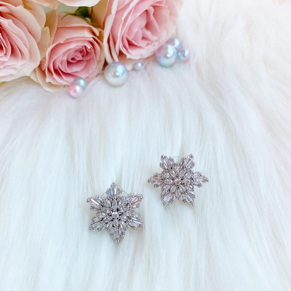 Elsa Frozen Earrings, gift, snow flake earrings, crysta;