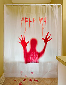 """HELP ME"" Bloody Curtain"