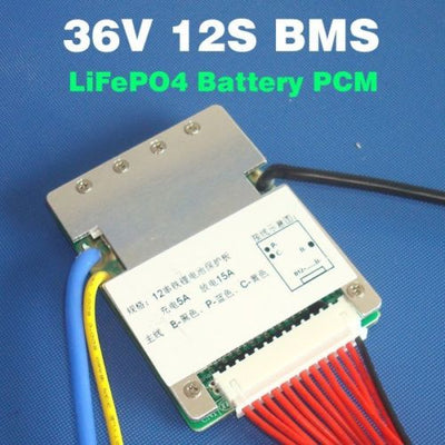 12S 36V 15A LiFePO4 battery BMS balance function E-bike Ebike