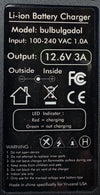 11.1V (12.6V) 3s Lithium-ion Battery Charger (3 Amps) UK plug