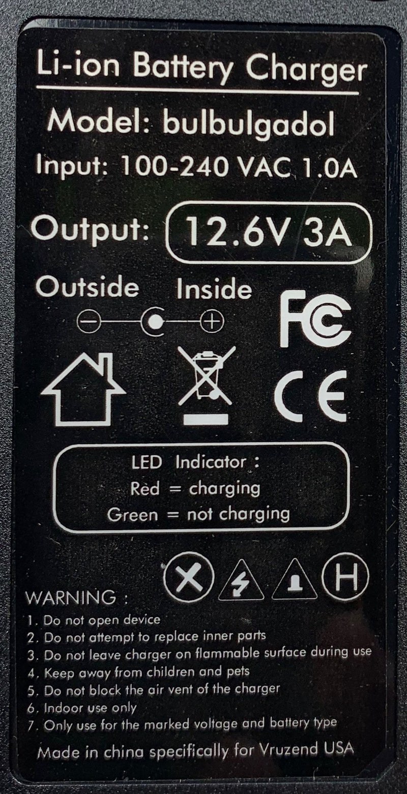 11.1V (12.6V) 3s Lithium-ion battery charger (5 Amps) EU plug