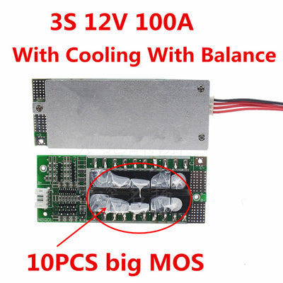 3S 100A 12V Li-ion Lithium BMS Inverter Battery Protection Board