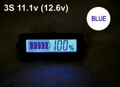 3S 11.1V Blue Lithium-ion Li-ion LiPo Battery Capacity Indicator LCD Display Remaining Detector Meter
