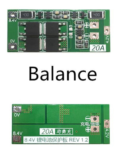 2S 20A 7.4V 8.4V 18650 Lithium Battery Protection board BMS board Balance