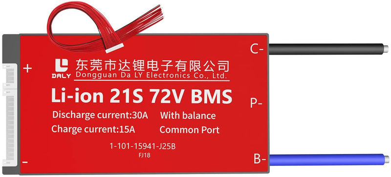 Li-ion BMS PCB 21S 72V 30A Daly Balance Waterproof Battery Management System UK