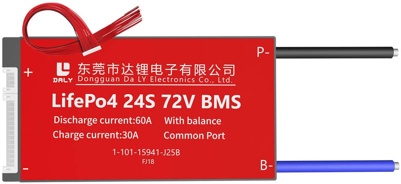 LiFePO4 BMS PCB 24S 72V 60A Daly Balanced Waterproof Battery Management System