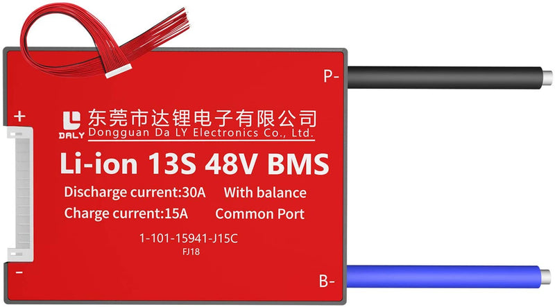Li-ion BMS PCB 13S 48V 30A Daly Balanced Waterproof Battery Management System