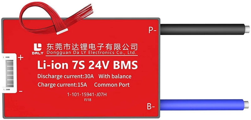 Li-ion BMS PCB 7S 24V 30A Daly Balanced Waterproof Battery Management System UK