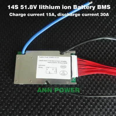 51.8V 14S 30A Lithium-ion Battery BMS with Balance Function