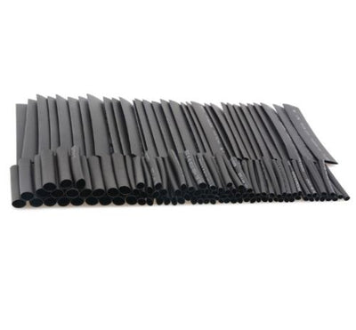 Heat Shrinkable Tubing 127pcs 2:1 Black Shrink Tube Sleeving 18650 UK Stock