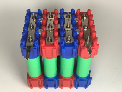 NEW! Vruzend v1.6 DIY Solderless 18650 Battery Holders. No Spot Welding. Colour Coded