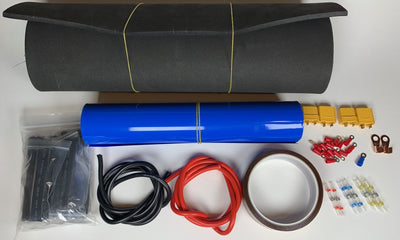 Vruzend Battery Finishing Kit with 160mm Heat Shrink 12AWG Silicone Cable