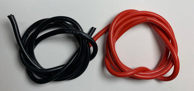 Silicone Covered Pure Copper Wire AWG Red Black 1 metre