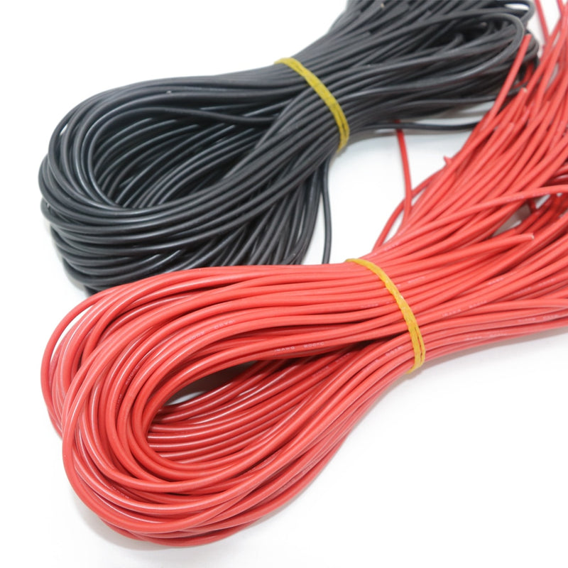Silicone Wire 14 AWG 55.6 Amp High Quality. 2 metres - 1 metre Red, 1 metre Black