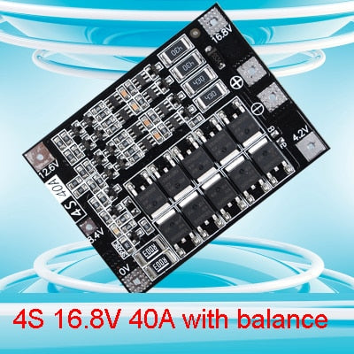 4S 40A 16.8V BMS Balanced 18650 Lithium Battery Protection Board Balance Function Equalizer Lipo Li-ion