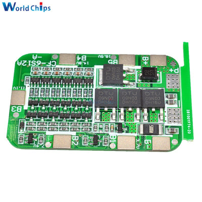 4S 15A 24V PCB BMS Protection Board For 6 Pack 18650 Li-ion Lithium Battery Cell Module New Arrival