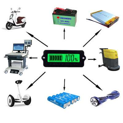 14S 52V Green Lithium-ion Li-ion LiPo Battery Capacity Indicator LCD Display Remaining Detector Meter