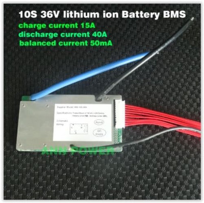 10S 36V 40A continuous lithium ion battery BMS UKstock 18650 Ebike E-bike li-ion