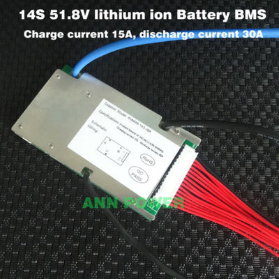 14S 52V 30A Continuous Balanced Lithium-ion battery BMS UK stock 18650 Ebike E-bike li-ion