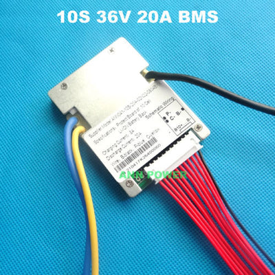 10S 36V 20A Continuous BMS Lithium Ion Battery E-bike Ebike 18650 Li-ion