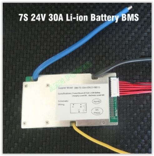 7S 24V 30A BMS UKstock 18650 Ebike E-bike li-ion continuous lithium ion battery