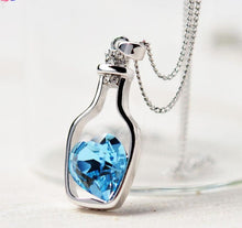 Load image into Gallery viewer, Heart Crystal, Love Drift Bottles Pendant Necklace