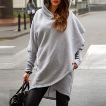 Load image into Gallery viewer, Asymmetric Pullover Loose Hoodie