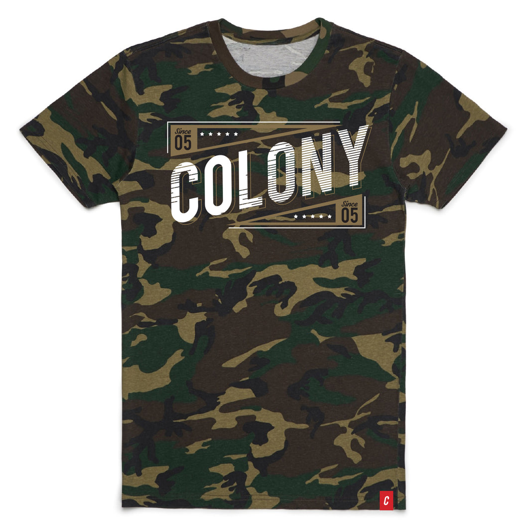 Colony Camo Stamped T-Shirt