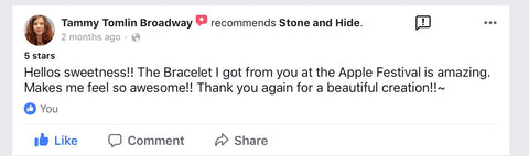customer loves stone and hide jewelry review feedback