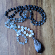 108 bead mala necklace natural gemstone jewelry