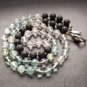 I have included the highest of quality aquamarine, fluorite and madagascar rose quartz beads.  necklace