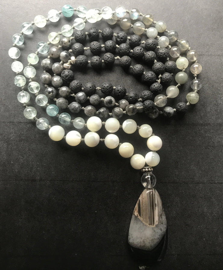 Coastal spirit mermaid mala necklace