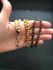 Golden mala necklace of joy and light