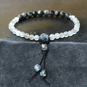 Moonstone with labradorite petite intuition bracelet