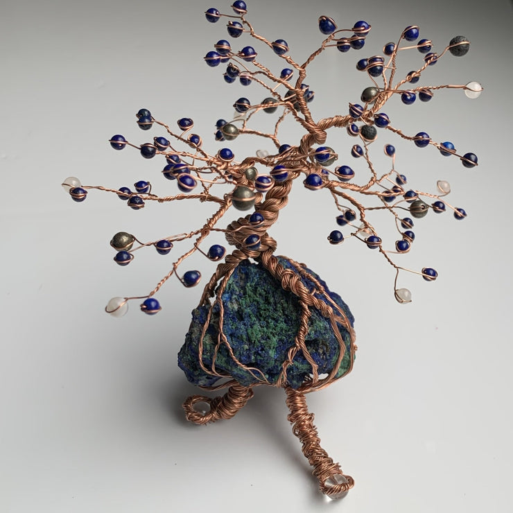 Healing tree of intuition : azurite with malachite and lapis