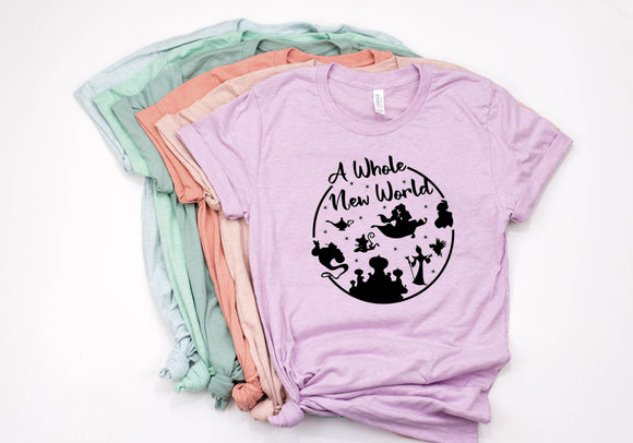 A Whole New World Circle Unisex Shirt