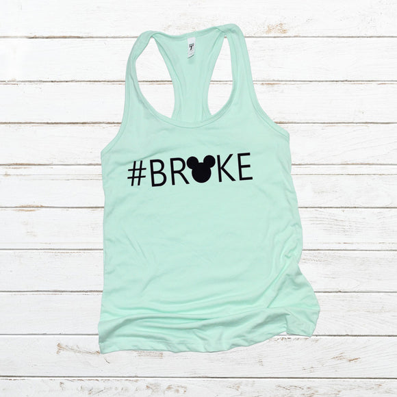 #Broke FITTED Razorback Tank Top