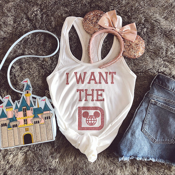 I want the D Disney World Inspired Women's Razorback Tank Top