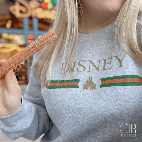 Disney Castle Designer Inspired UNISEX Adult Sweatshirt