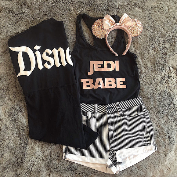 Jedi Babe Rose Gold FITTED women's Tank Top