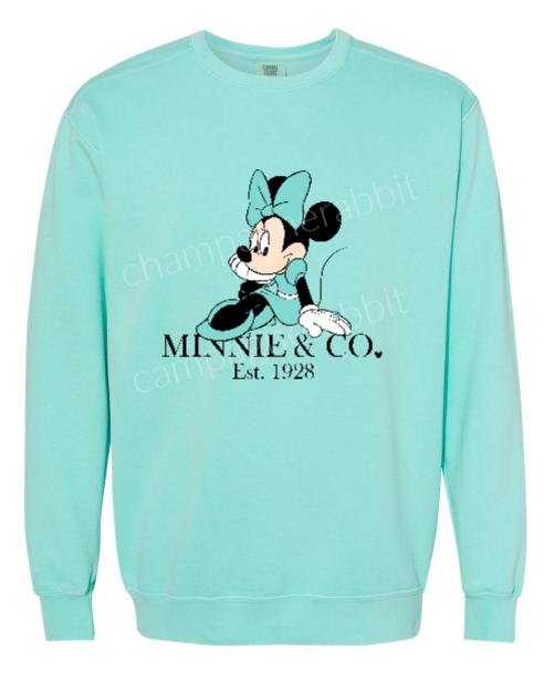 Minnie and CO Robbins Egg Blue Dress Adult UNISEX Premium Sweatshirt