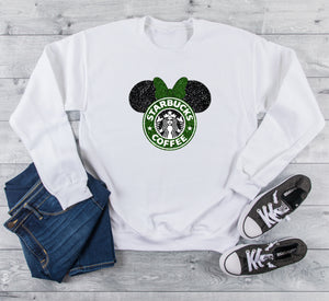 Glitter Coffee Minnie Inspired Unisex Sweatshirt