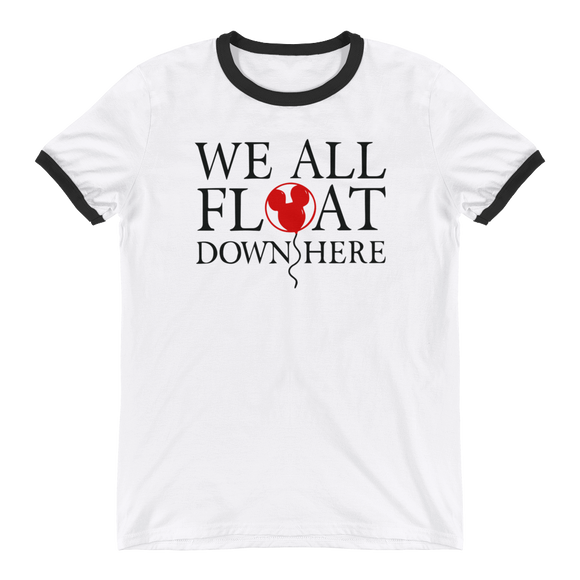 We all float down here Mickey balloon UNISEX ADULT Ringer T-Shirt