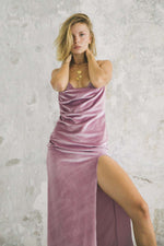 Siren Slip Dress - Lavender Velvet