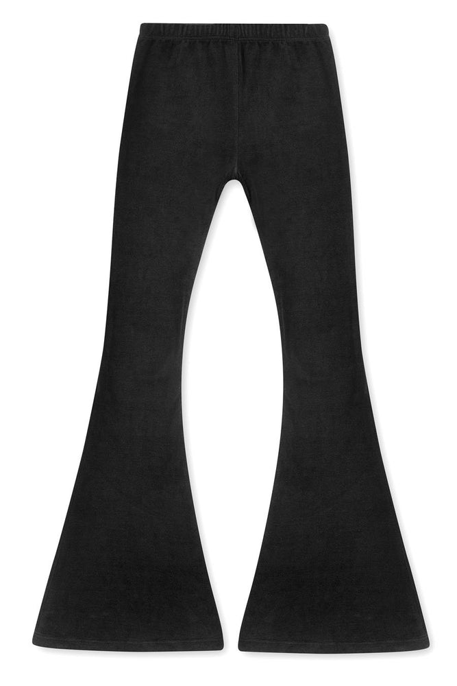 LDC VELOUR PANTS - BLACK
