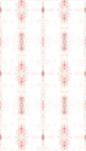 blush wallpaper, hand painted blush wallpaper, powder room, girls room wallpaper