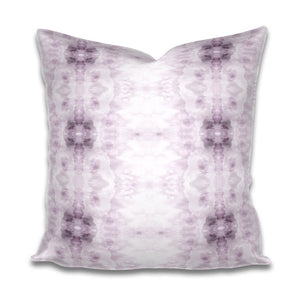 lavender white pillow, violet white pillow, soft purple white pillow, purple bohemian pillow